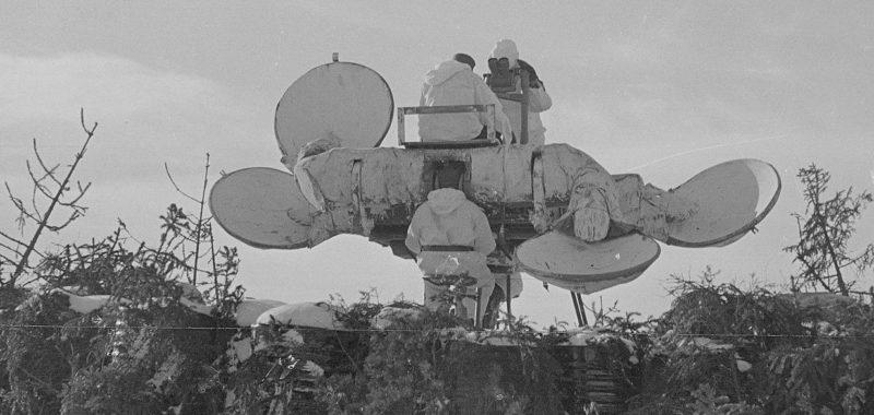 Чешский акустический локатор на финских позициях. Март 1940 г.