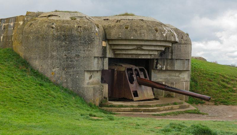 Казематы с 150-мм орудиями.