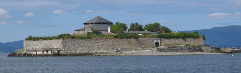 Общий вид острова Munkholmen.