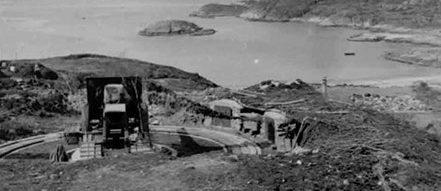 Позиция 105-мм орудия в годы войны.