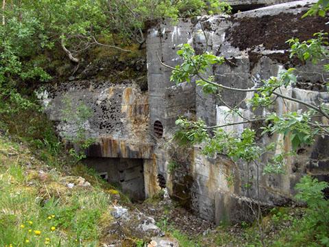 Остатки вспомогательного бункера.
