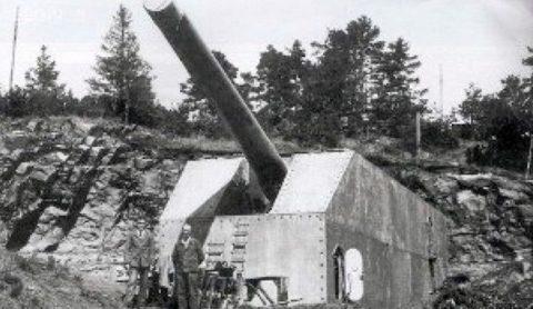 Башня 380-мм орудия.