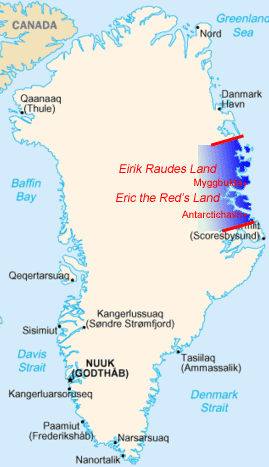 Занятая норвежцами территория Земли Эрика Рыжего (1931—1933 гг.)