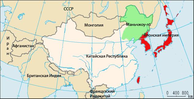 Маньчжоу-го на карте.
