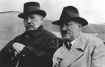 Гинденбург и Гитлер.