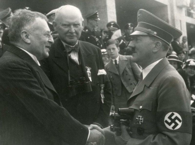 Свен Гедин и Адольф Гитлер. 1936 г.