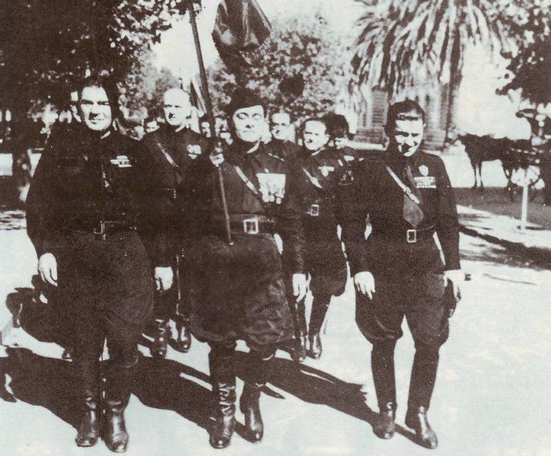Марш аргентинских фашистов. Ла-Плата. 1940-е годы.