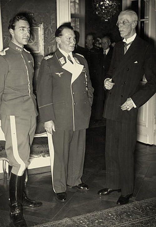 Принц Швеции Густав Адольф, Герман Геринг и король Швеции Густав V. Берлин 1939 г.