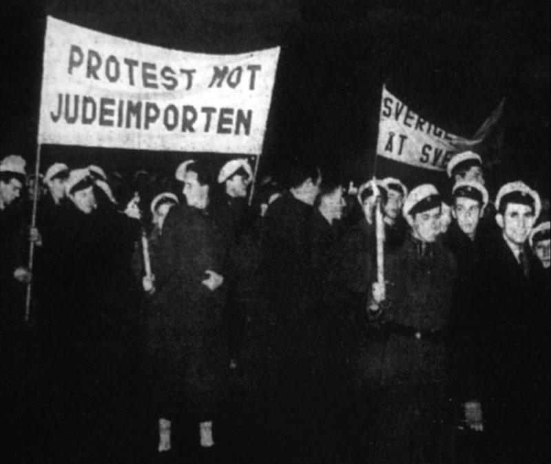 «Протест против импорта евреев» в Стокгольме. 1939 г.
