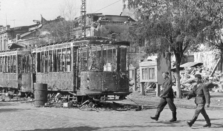 Немцы в Николаеве. Август 1941 г.