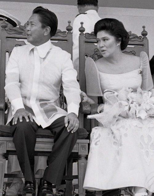 Президент Фердинанд Маркос и его жена Имельда.
