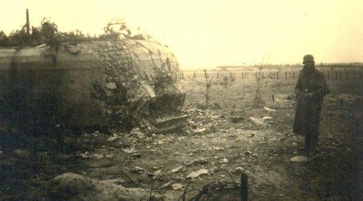Разрушенный польский ДОТ.