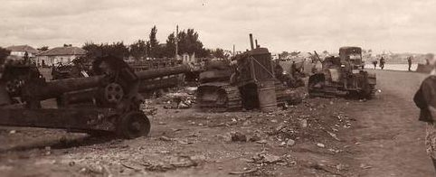 Разбитая советская техника. Август 1941 г.