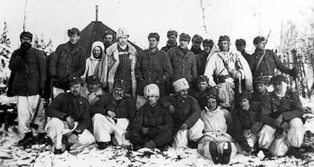 Шведские добровольцы на Зимней войне. Финляндия. 1940 г.