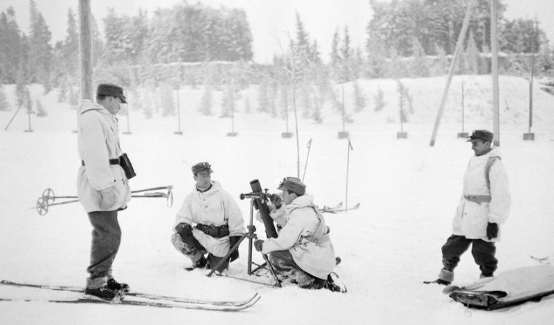 Тренировка шведских добровольцев. Кеми. Январь 1940 г.