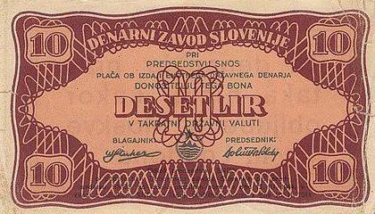 Образцы фальшивых купюр-пародий на Югославские деньги.