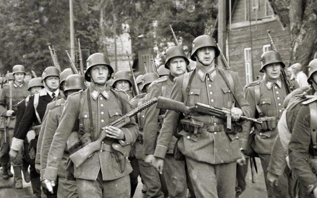 Военнослужащие 10-го Литовского шуцманшафт-батальона.