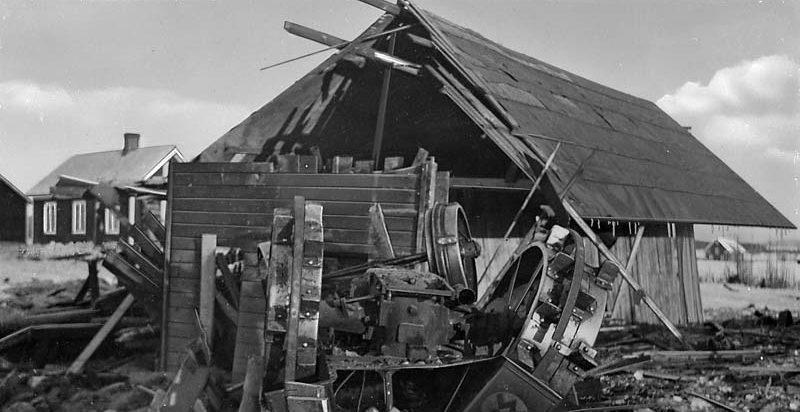 Последствия советской бомбардировки. Паяла. 21 февраля 1940 г.