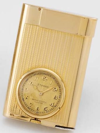 Зажигалки-часы «Watchlighter» фирмы Eterna, выпускались с 1928 года.