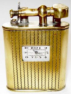 Зажигалки-часы Lenil Genève, выпускались в 1930-м году.