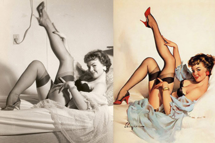 Примеры появления «рin-up» на базе фотографий.