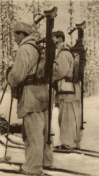 Шведские добровольцы во время Зимней войны.