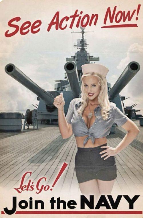 Плакаты с рисунками военного «pin-up».