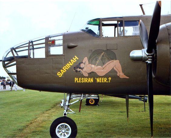 «Рin-up» на бортах музейных самолетов.