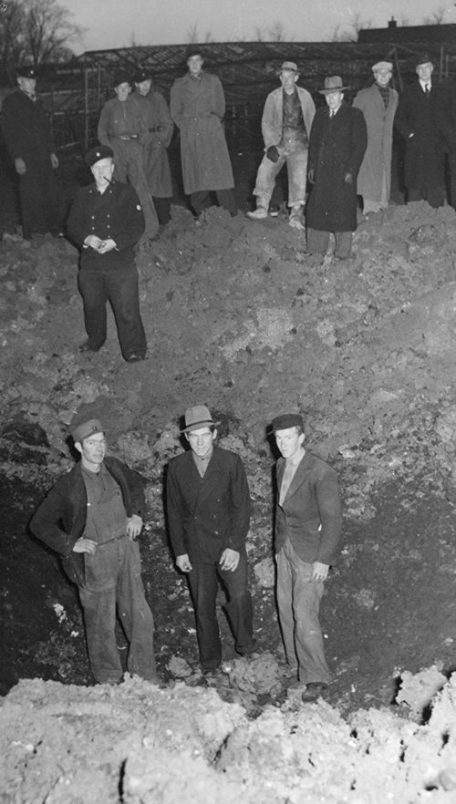 Последствия британской бомбардировки города Лунда. 18 ноября 1943 г.