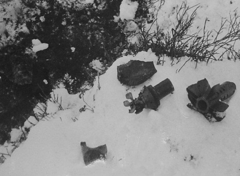 Последствия советской бомбардировки района Эриксдал. Стокгольм. 22 февраля 1944 г.