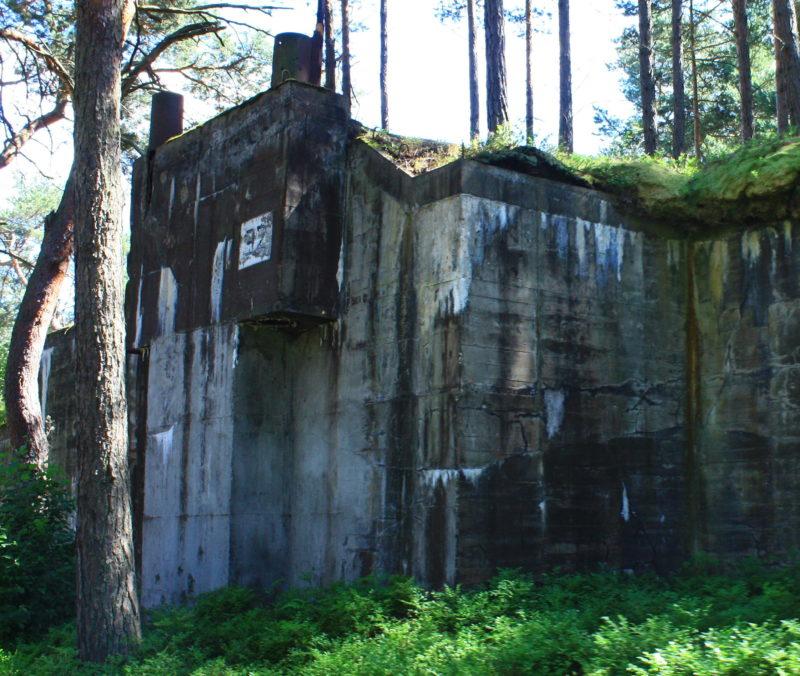 Немецкие вспомогательные бункеры.