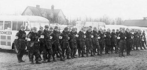 Шведские водители «белых автобусов». 1945 г.