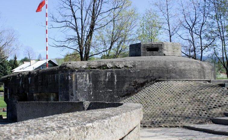 Вид сбоку на форт.