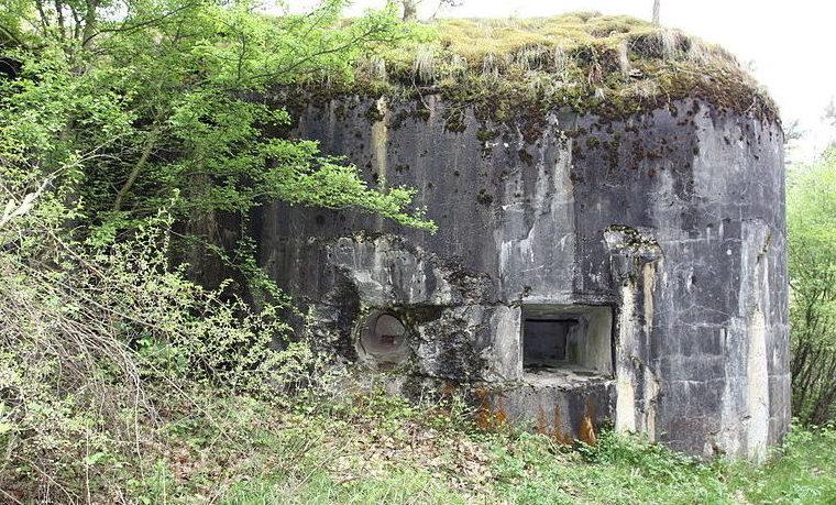 Развалины ДОТов внешнего кольца обороны между Фортом I и Фортом II.