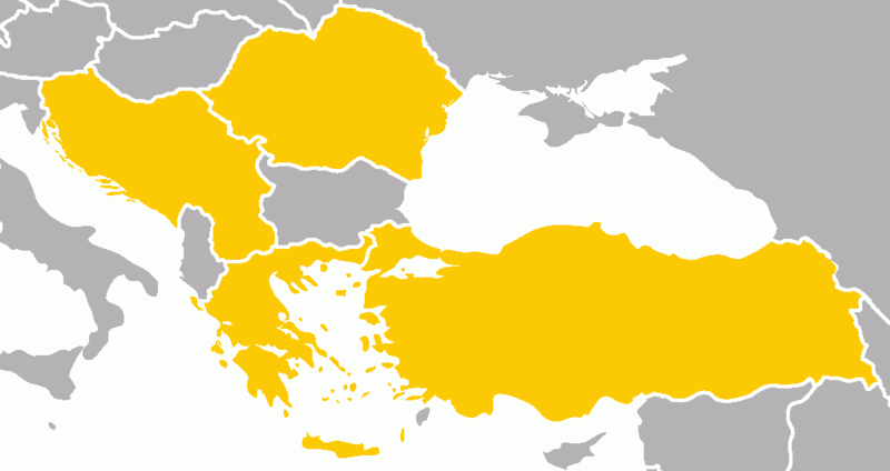 Страны-участницы Балканской Антанты.