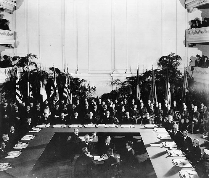 Подписание Вашингтонского военно-морского договора. 6 февраля 1922 г.