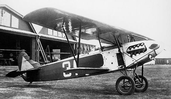 Истребитель Фоккер D XIII в Липецкой авиашколе.