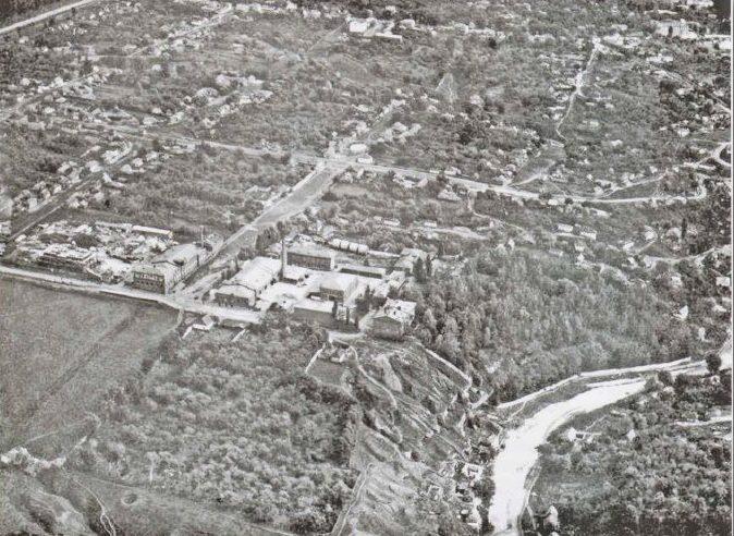 Вид с высоты на авиацентр в Липецке в конце 1925 года.