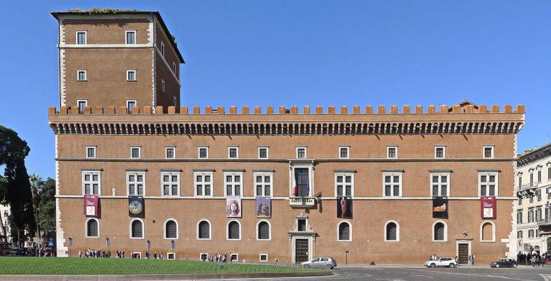 Palazzo Venezia в Риме, где был подписан Пакт четырех.