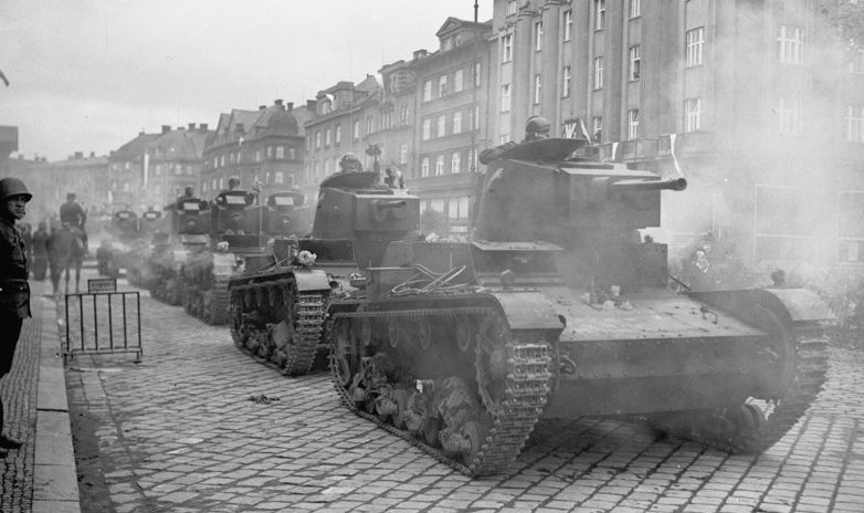 Польская армия захватывает Тешинскую Силезию в 1938 году.
