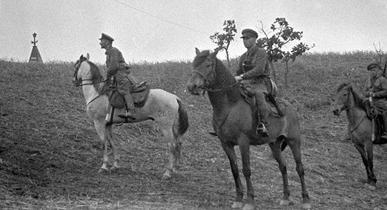 Наряд советских пограничников в районе озера Хасан. 1938 г.