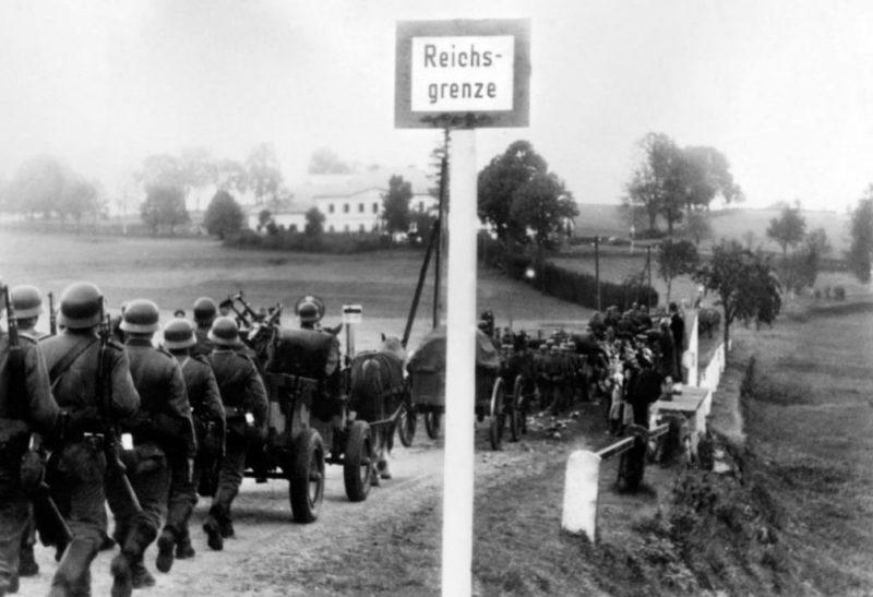 Марш немецких войск в Рейнскую область.