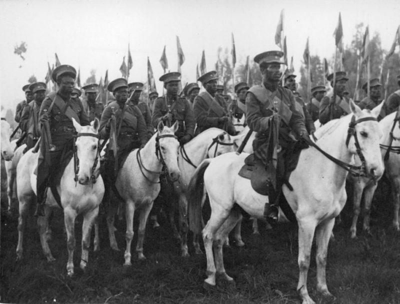 Абиссинские войска.
