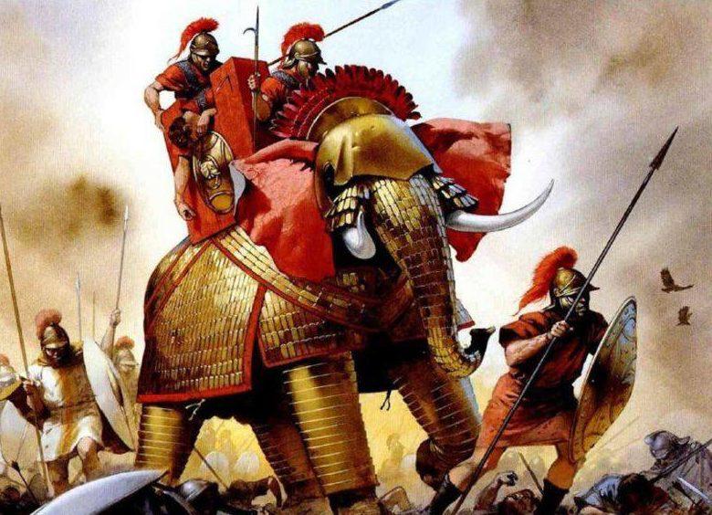 Доспехи слонов римлян.