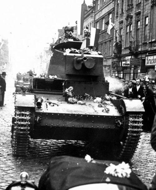 Польские войска занимают чешский город Тешин. Октябрь 1938 г.