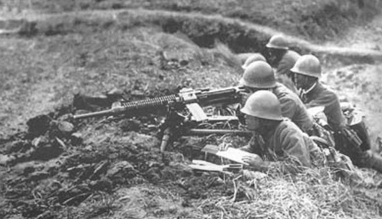 Японские пулемётчики у озера Хасан. 1938 г.