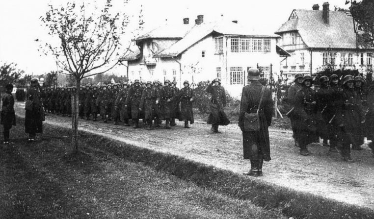 Польские войска на оккупированной чехословацкой территории. 1938 г.
