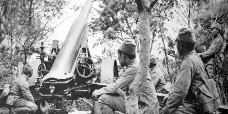 Японские артиллерийские позиции. 1938 г.