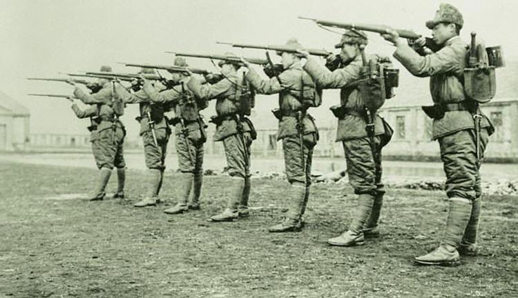 Солдаты армии Маньчжоу-Го. 1938 г.