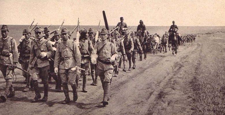 Японские войска на марше. 1938 г.